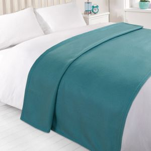 Dreamscene Plain Fleece Throw - Teal