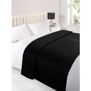 Fleece Blanket 120x150cm - Black