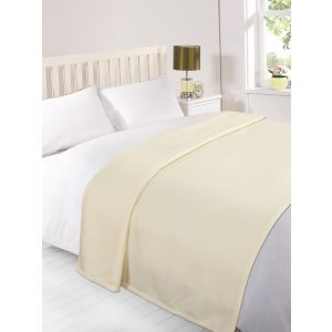 Fleece Blanket 120x150cm - Cream