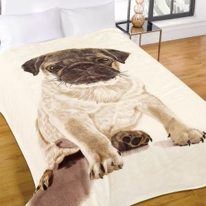 Faux Fur Mink Throw - Pug