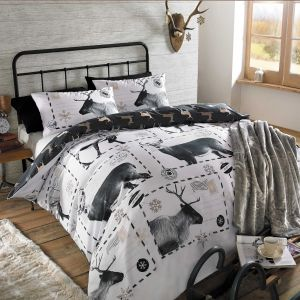 Reindeer Duvet Cover Set - Postcard