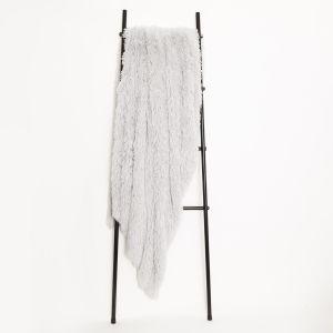 Sienna Fluffy Throw 150x200cm - Silver