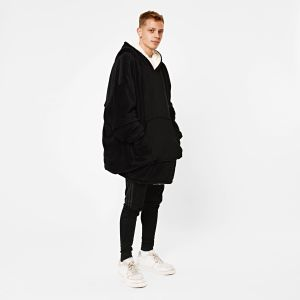 Sienna Supersoft Hoodie Blanket, One Size - Black