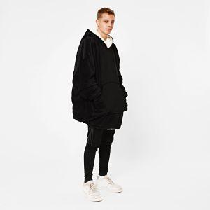 Sienna Supersoft Hoodie Blanket, One Size - Black