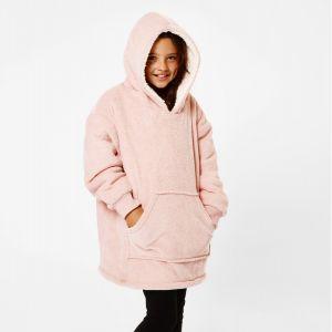 Sienna Hoodie Blanket Sherpa, Kids - Blush
