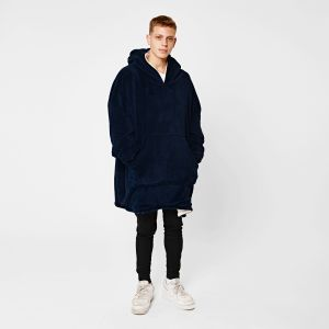 Sienna Supersoft Hoodie Blanket, One Size - Navy Blue