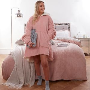 Sienna Supersoft Hoodie Blanket, One Size - Blush Pink