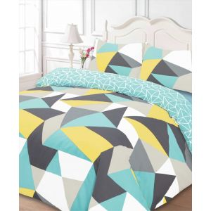 Dreamscene Shapes Duvet Cover Set - Multi Coloured