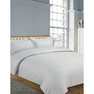 Hotel Stripe 4pc Complete Set with Sheet - Silver