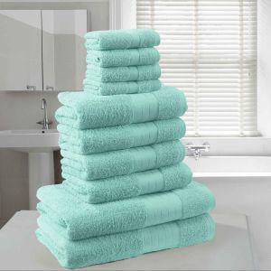 Brentfords Towel Bale 10 Piece - Aqua