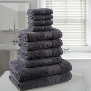Brentfords Towel Bale 10 Piece - Charcoal