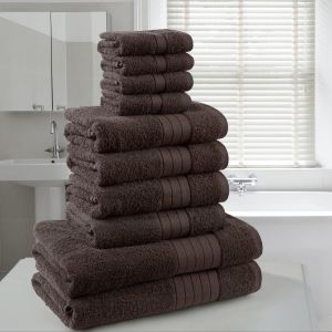 Dreamscene Towel Bale 10 Piece - Chocolate