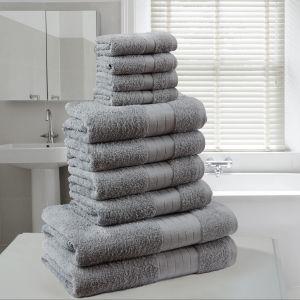 Dreamscene Towel Bale 10 Piece - Grey