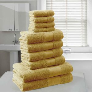 Dreamscene Towel Bale 10 Piece - Mustard Ochre Yellow