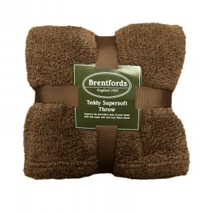 Brentfords Teddy Fleece Throw - Chocolate