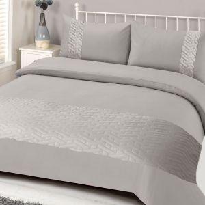 Embossed Bedding Set - Silver Grey