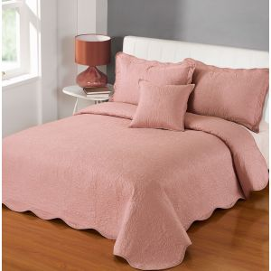 Victoria Bedspread - Vintage Pink