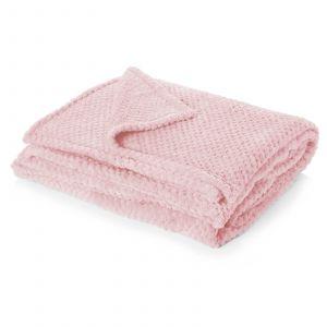 Waffle Mink Throw - Blush Pink