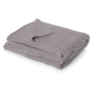 Textured Knit Throw - Charcoal