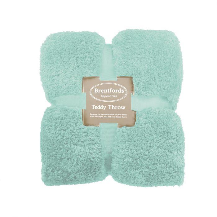 Brentfords Teddy Fleece Blanket Large Throw Over Bed Plush Super Soft Warm Sofa Bedspread 150 x 200 cm Charcoal Grey
