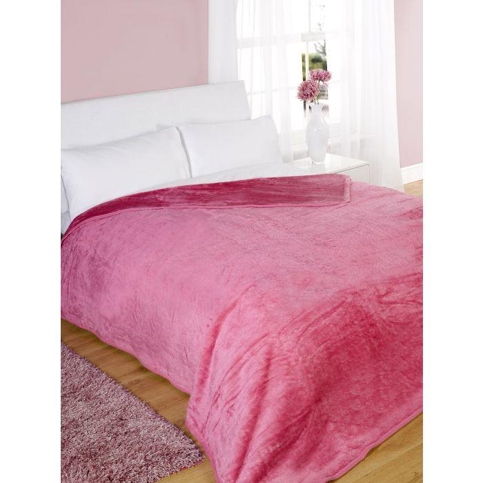 Dreamscene Large Faux Fur Mink Super Soft Snuggle Bed Fleece Blanket Throw Over