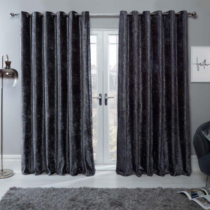Sienna Home Crushed Velvet Eyelet, Can You Wash Crushed Velvet Curtains