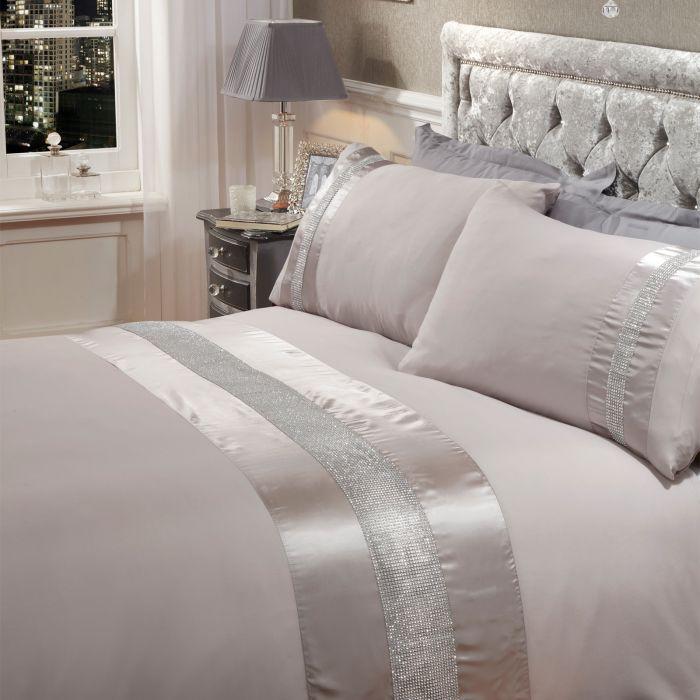 Sienna Diamante Sparkle Duvet Set, Sparkle Bedding Set Single