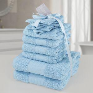 10pc 500gsm Cotton Towel Bale - Aqua
