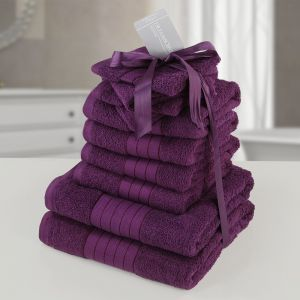 Brentfords Towel Bale 10 Piece - Purple