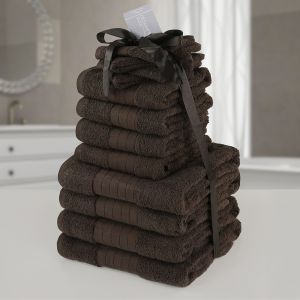 Dreamscene Towel Bale 12 Piece - Chocolate
