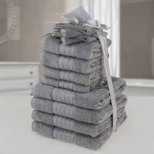Brentfords Towel Bale 12 Piece - Grey