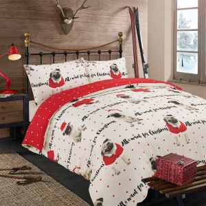 All I Want for Christmas Bedding Set - Red