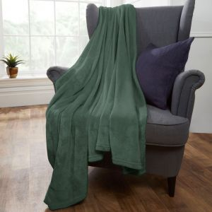Brentfords Supersoft Throw, Green - 120 x 150cm