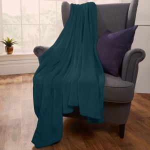 Brentfords Supersoft Throw, Teal - 200 x 200cm