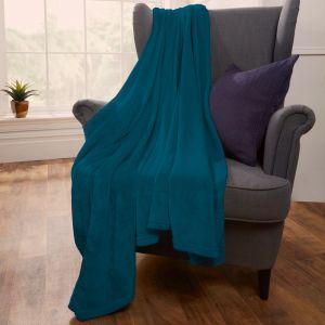 Brentfords Supersoft Throw, Turquoise - 120 x 150cm