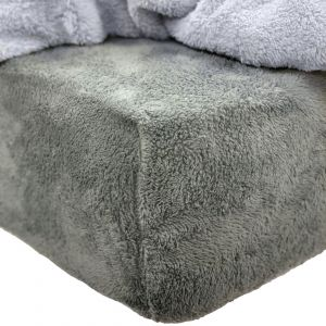 Brentfords Teddy Fleece Fitted Sheet - Charcoal Grey