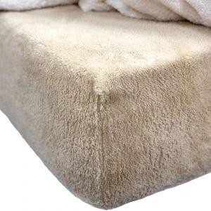 Brentfords Teddy Fleece Fitted Sheet - Latte Beige
