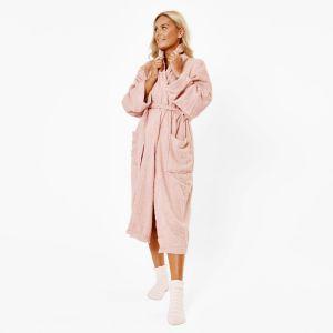 Brentfords Luxury 100% Cotton Dressing Gown - Blush Pink