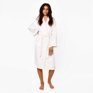 Brentfords Luxury 100% Cotton Dressing Gown - White