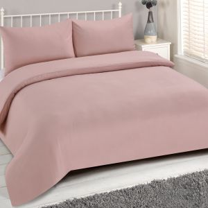 Brentfords Plain Duvet Cover Set - Blush Pink
