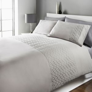 Embossed Bedding Set - Silver Grey