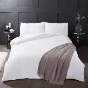 Brushed Cotton Duvet Set - White