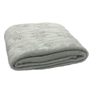 Dreamscene Supersoft Snowflake Throw, Grey - 120 x 150cm