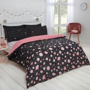 Dreamscene Glam Duvet Set - Rose Gold