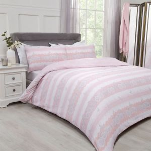 Dreamscene Lace Butterflies Duvet Cover Set - Blush Pink