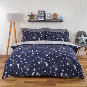 Dreamscene Kids Night Sky Duvet Set - Blue