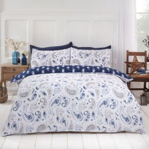 Dreamscene Persian Paisley Duvet Set - Natural/Blue