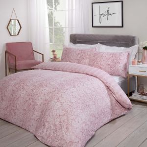 Dreamscene Snake Skin Print Duvet Cover Set - Blush Pink