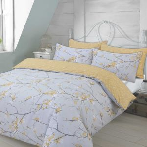 Dreamscene Spring Blossoms Duvet Cover Set - Ochre