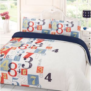 Dreamscene Digit Duvet Cover Set - Blue